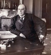 William Mckinley Seated At Desk