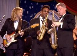 Clinton playing the Sax at inauguration 1993