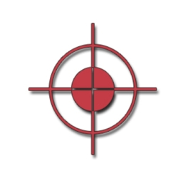 Free clip art picture of a rifles' cross hairs.This image is provided free from Acclaim Images.
