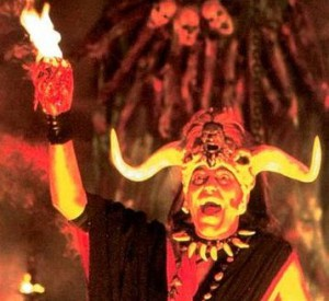 Mola Ram portrayed by Amrish Puri in Indiana Jones and the Temple of Doom