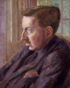 E. M. Forster by Dora Carrington, oil on canvas, 1920